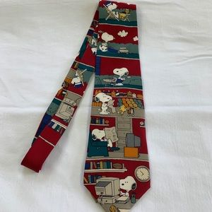 """Peanuts Accessories - Peanuts """"All in a Day"""" Vintage Novelty Necktie"""